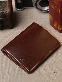 Brown Leatherette Photo Holder Blocking Credit Card Bifold Wallet