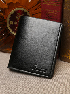 Black Leatherette Photo Holder Blocking Credit Card Bifold Wallet