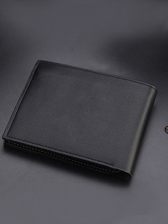 Pasabuy Black Genuine Leather Credit Card Bifold Wallet