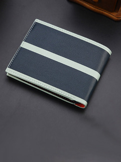 Pasabuy Gray and Black Genuine Leather Credit Card Bifold Wallet