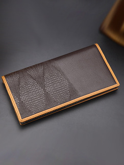 Brown Leatherette Embossed Bifold Wallet