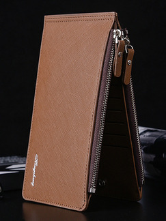 Brown Leatherette Credit Card Photo Holder Bifold Wallet