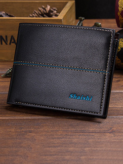 Black Leatherette Linking Credit Card Bifold Wallet