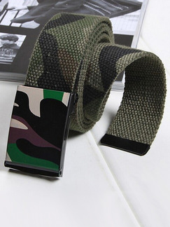 Camoflouge Bradied Military Cotton and Metal Belt
