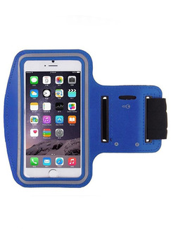 Blue Nylon Outdoor Touch Screen Phone Arm Armband Wristband Bag