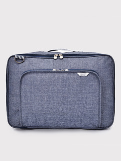 Blue Nylon Baggage Storage  Messenger Bag