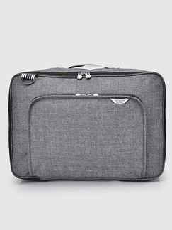 Grey Polyester Baggage Storage Messenger Bag