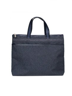 Blue Oxford Portable Office Tote Bag