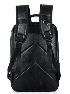 Black and Grey Leather Camouflage Leisure Shoulders Backpack Bag