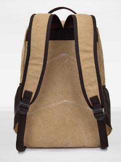 Beige Canvas High-Capacity Leisure Shoulders Backpack Bag