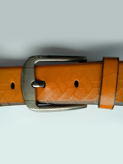 Brown Ratchet Leather and Metal Belt