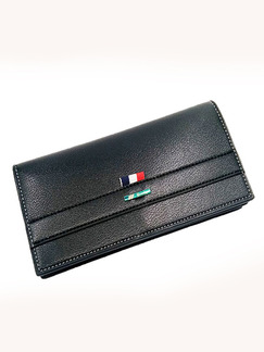 Black Leatherette Credit Card Checkbook Bifold Wallet