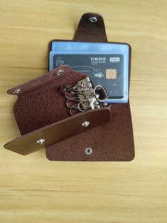 Brown Leatherette Credit Card Bifold Wallet