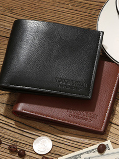 Black Leatherette Credit Card Photo Holder Bifold Wallet