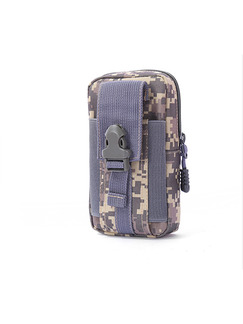 Blue Canvas Outdoor Camouflage Clutch Bag