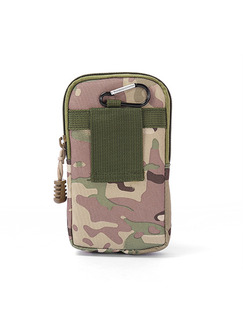 Green Canvas Outdoor Camouflage Clutch Bag