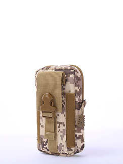 Brown Canvas Outdoor Camouflage Clutch Bag