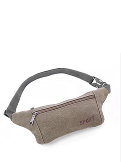 Khaki Canvas Outdoor Sports Washed Fanny Pack Bag