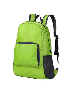 Green Nylon Outdoor Foldable Shoulders Backpack Bag