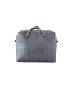Grey and Aqua Polyester High-Capacity Contrast Linking Water-Proof Foldable Portable Weekender Luggage Bag