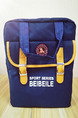 Blue and Yellow Nylon Multi-Function Portable Shoulder Satchel Bag