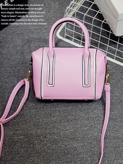 Pink Leatherette Shoulder Crossbody Hand Bag