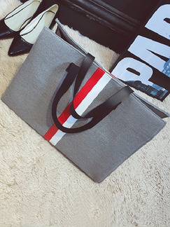 Grey Fabric Shoulder Hand Tote Bag On Sale