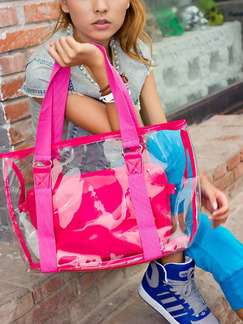 Pink Patent Leather Metallic Cute Shopping Shoulder Hand Tote Bag  On Sale