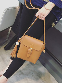 Brown Leatherette Satchel Shoulder Crossbody Bag On Sale