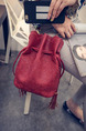 Red Leatherette Drawstring Shoulder Crossbody Bag On Sale