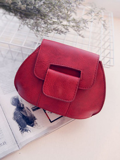 Red Leatherette Evening Purse Clutch Bag
