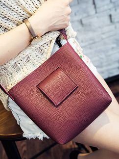 Red Leatherette  Shoulder Crossbody Bag On Sale