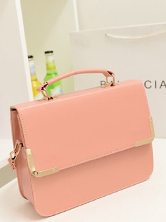 Pink Leather Cute Hand Shoulder Crossbody Bag On Sale