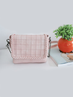Pink Leather Quilted Chain Handle Shoulder Crossbody Bag On Sale