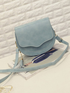 Grey Leatherette Shoulder Crossbody Bag On Sale