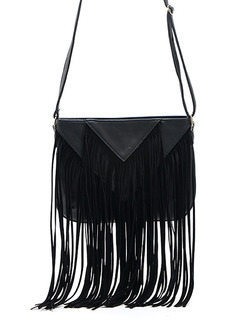 Black Suede  Shoulder Crossbody Bag On Sale