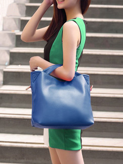 Blue Leatherette Hobo Shoulder Crossbody Hand Bag