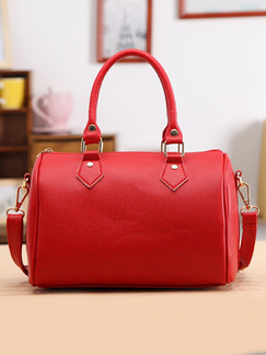 Red Leatherette Hand Shoulder Crossbody Bag On Sale