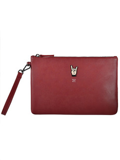 Red Leatherette Evening Clutch Bag On Sale