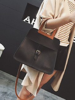 Black Brown Leatherette  Shoulder Hand Crossbody Bag On Sale