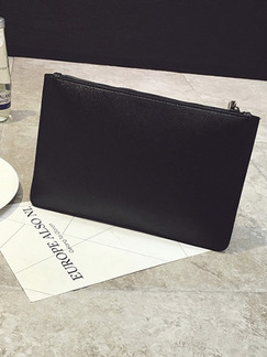 Black Leatherette Evening Clutch Purse Bag On Sale