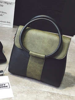 Black and Green Leatherette  Hand Shoulder Crossbody Bag