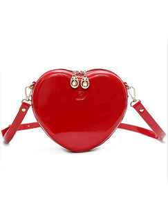 Red Patent Leather  Shoulder Crossbody Bag