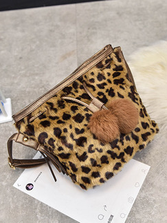 Leopard Cotton Drawstring Shoulder Crossbody Bag