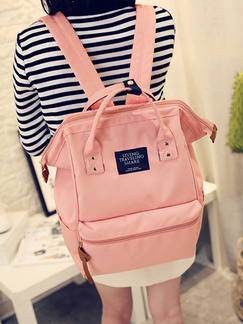 Pink Canvas Cute Hand Backpack Bag