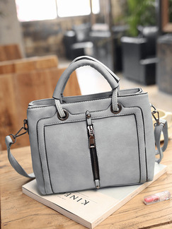 Grey Leatherette  Hand Shoulder Crossbody Bag