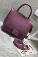 Purple Leatherette  Hand Shoulder Crossbody Bag