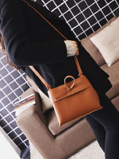 Brown Leatherette  Shoulder Crossbody Bag