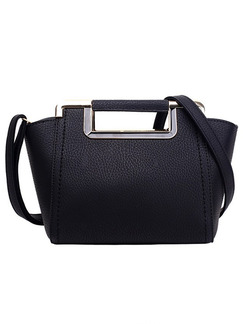 Black Leatherette  Hand Shoulder Crossbody Bag