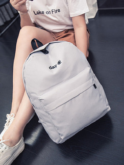 Grey Canvas  Backpack Bag